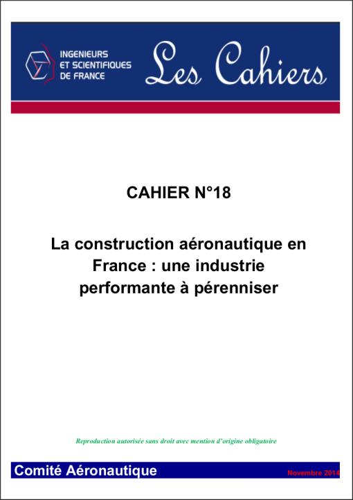 La construction aéronautique en  France : une industrie  performante à pérenniser