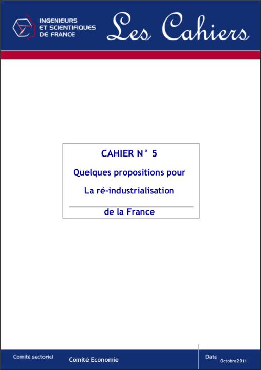 La  ré-industrialisation de la France