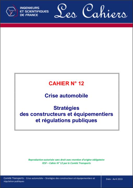Crise automobile - Stratégies