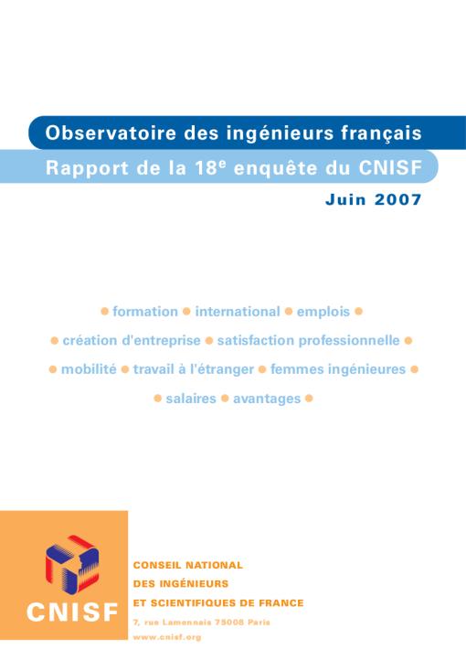 Enquête Nationale 2007