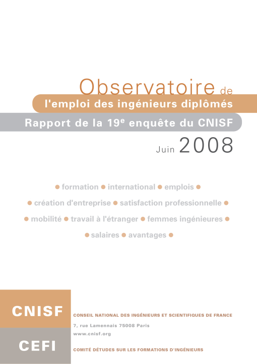 Enquête Nationale 2008