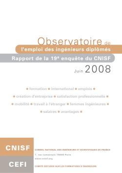 Enquête Nationale 2008